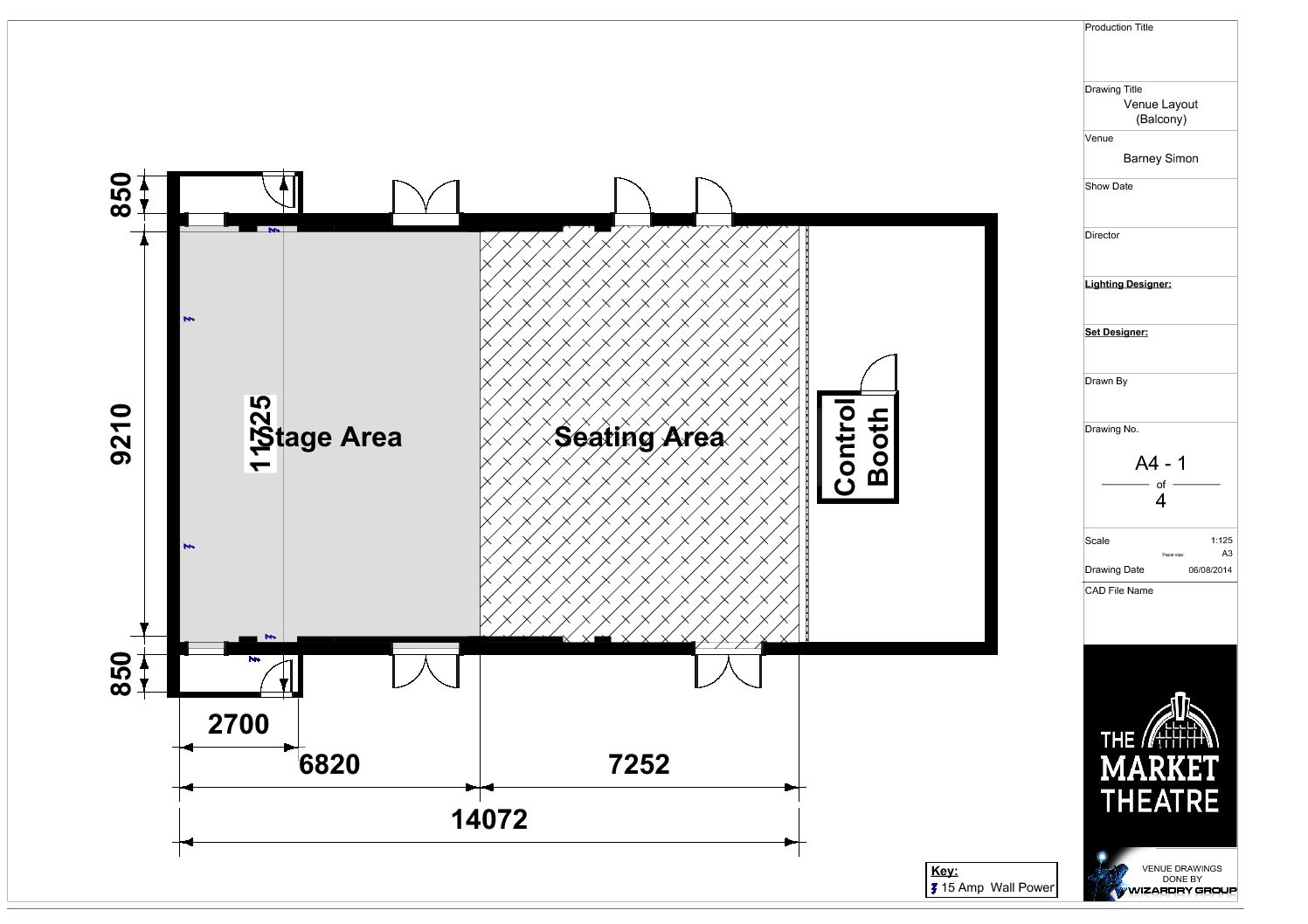 Barney Simon -Venue Layout