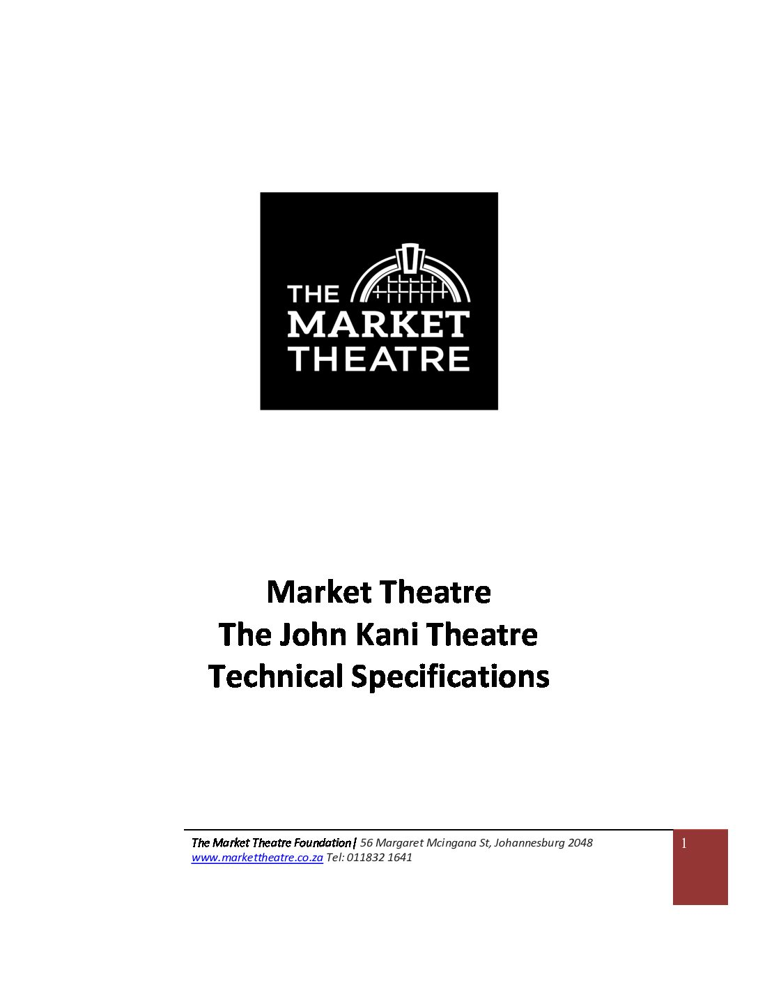 john-kani-theatre-technical-specifications