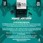 The Windybrow Arts Centre and Hear My Voice invite young aspiring writers and poets to their weekly workshops for black history month